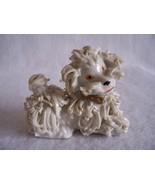 Vintage Spaghetti White Poodle Dog Figurine 50s - $26.00