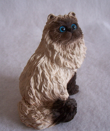 Stone Critter Littles Longhair Himalayan Siamese Cat Figurine - $28.00