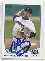 Nathan Karns Signed Autographed Card 2013 Topps Pro Debut - $9.90