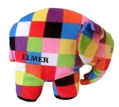 "Elmer the Patchwork Elephant 7"" Plush Beanbag T... - $9.90"