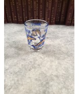 Maui Dolphins Blue Gold Shot Glass Jigger Hawaii - $5.00