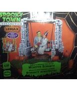 Lemax Halloween Spooky Town Monster Romance Frankenstein & Bride lighted... - $37.99
