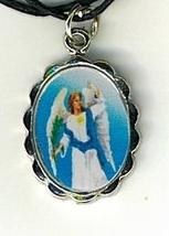 Necklace - San Uriel Arcangel Medal & Holy Card image 2