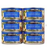6 CANS KIRKLAND SIGNATURE PREMIUM CHUNK CHICKEN BREAST IN WATER 12.5 OZ... - $24.71