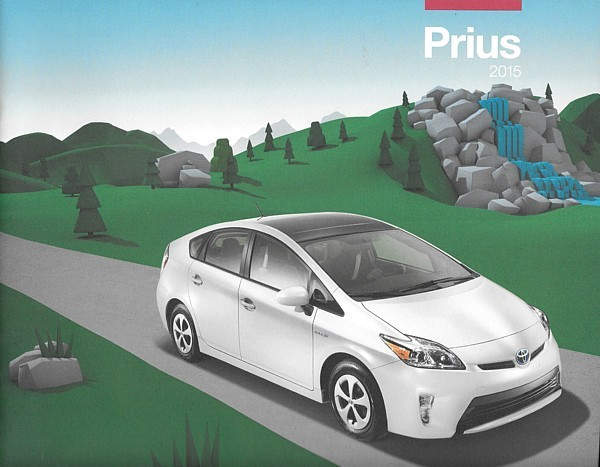 Primary image for 2015 Toyota PRIUS HYBRID sales brochure catalog 15 US Two Three Four Five