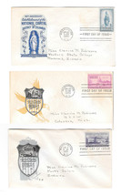 FDC Sc# 989 991 992 National Capital Sesquicentennial Loor Cachets Lot of 3 - $4.74