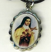 Necklace - Santa Teresita Medal & Holy Card - L H125.1092JA