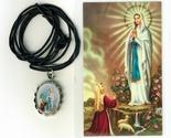 Necklace   virgen de lourdes medal   holy card h125.1092j 001 thumb155 crop