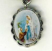 Necklace - Virgen de Lourdes Medal & Holy Card - LH125.1092J image 2