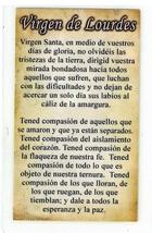 Necklace - Virgen de Lourdes Medal & Holy Card - LH125.1092J image 3