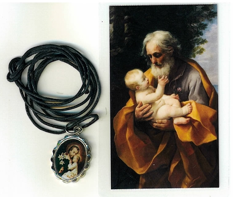 Necklace   san jose medal   holy card h125.1092i 001