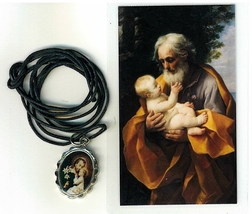Necklace - San Jose Medal & Holy Card image 1