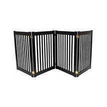 Dynamic Accents Four Panel EZ Pet Gate - Large/Mahogany 961-42223 - $251.24