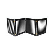 Dynamic Accents Four Panel EZ Pet Gate - Small/Mahogany 961-42221 - $220.00