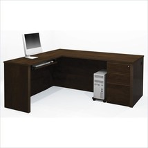 Prestige+ 4-Piece L-Shape Computer Desk w/ Keyboard Shelf and Pedestal - $698.95