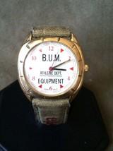 Vintage Authentic Bum Equipment Leather Fabric Watch - $188,31 MXN
