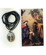 Necklace - Sagrada Familia Medal & Holy Card - LH125.1092FA - $6.99