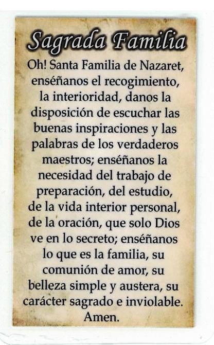 Necklace - Sagrada Familia Medal & Holy Card - LH125.1092FA