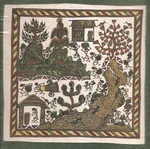 Indian Varli Art Handmade Maharashtra Tribal Miniature Decor Warli Folk ... - $54.99