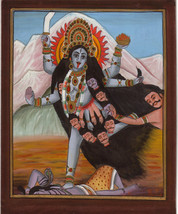 Kali Hindu Goddess Handmade Art Divine Mother India Religion Spiritual P... - $99.99