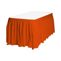 Touch of Color Easy Stick Plastic Table Skirt, 14-Feet, orange - £5.40 GBP