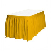 Touch of Color Easy Stick Plastic Table Skirt, 14-Feet, harvest yellow - $6.99