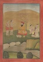 Guru Nanak Sikh Painting Handmade Antique Finish Janamsakhi Series Repli... - $219.99