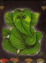 Lord Ganesh Painting Handmade Oil Color Indian God Ganesha Hindu Religio... - $109.99