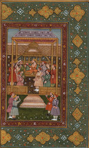 Mughal Empire Emperor Painting Illustrated Miniature Islamic Manuscript Art - $86.99