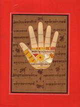 Handprint of Vishnu Hath Hand Tantrik Tantric Painting Indian Hindu Hand... - $39.99