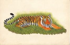 Indian Miniature Painting Royal Bengal Tiger Handmade Wild Animal Nature... - $49.99