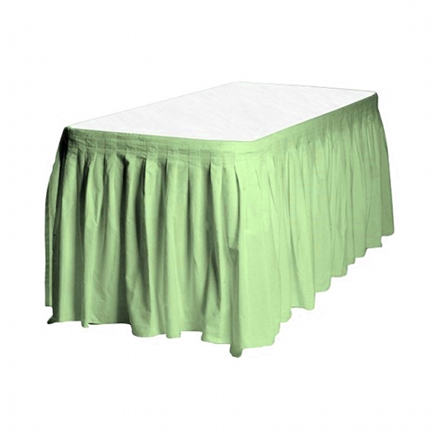Touch of Color Easy Stick Plastic Table Skirt, 14-Feet, citrus green