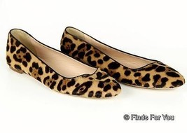 J Crew Nora Calf Hair Ballet Flats Size 5 Style# B0941 $258 Hazelnut Leo... - $120.77