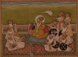 Rajasthani Miniature Painting Indian Handmade Maharaja 19c Replica Ethni... - $319.99