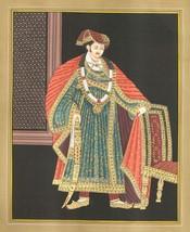 Rajasthani Painting Handmade Indian Maharajah Maharani Royalty Embossed ... - $199.99