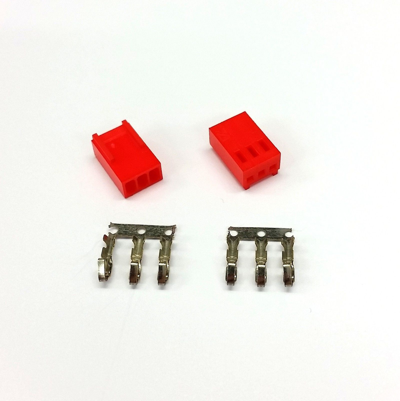 PK OF 2 - FEMALE 3 PIN FAN POWER CONNECTOR - RED INC PINS - $2.58
