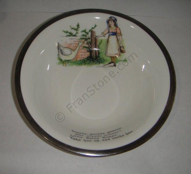 Aynsley baby bowl nursery rhyme feeding dish image 2