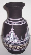 Handmade & Handpainted Moroccan Pottery Collectible Vase Signed SAISSI SAFI - $260.00