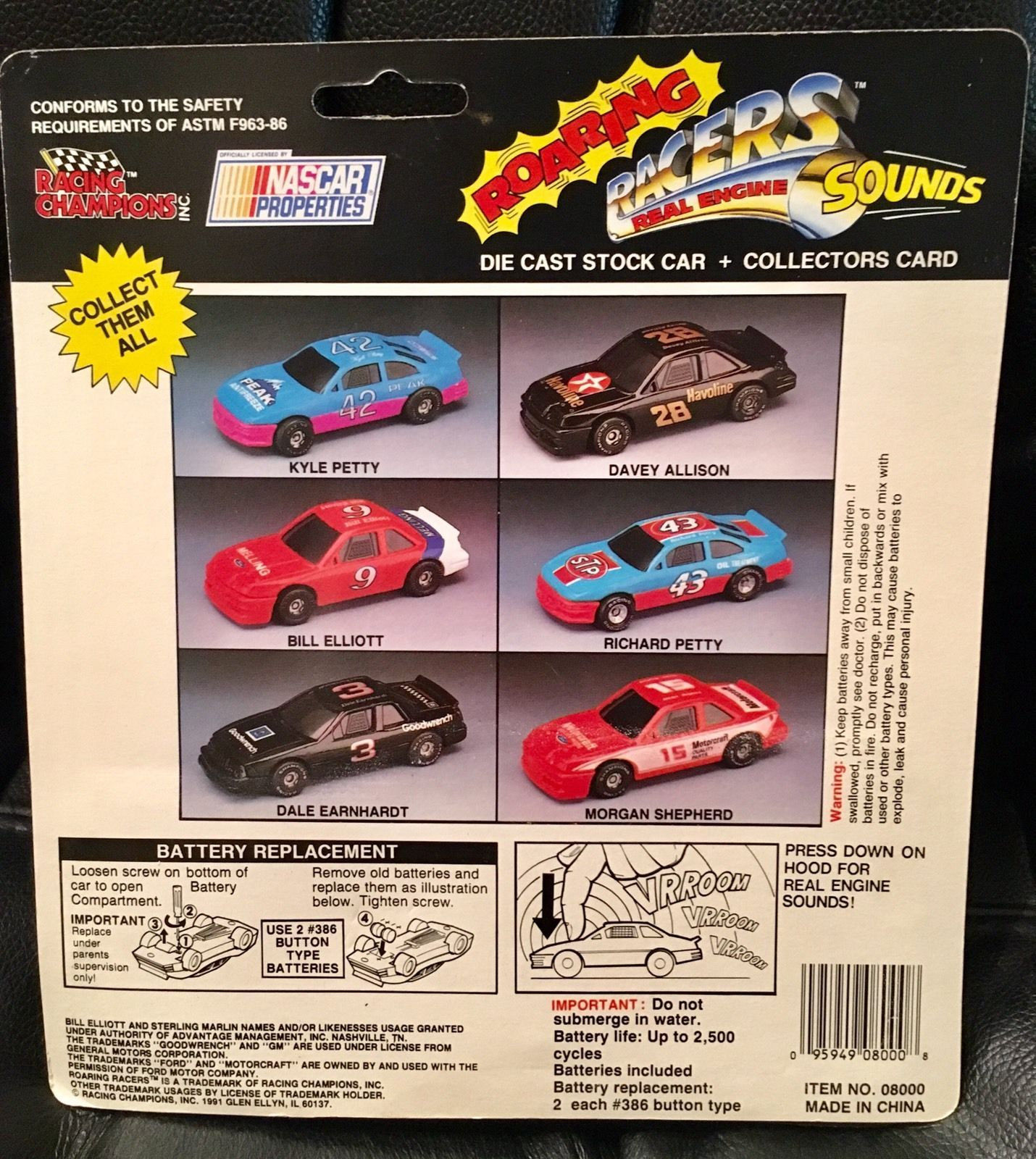Racing Champions Roaring Racers Nascar Davey Allison 1:64 Diecast Collectible