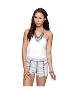 WOMEN'S/JRS girls ladies NOLLIE TUBE TOP  WHITE TWISTED NEW $19 - $12.99