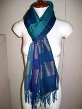 Elegant weaved shawl, mix Babyalpaca wool and Silk - $89.00