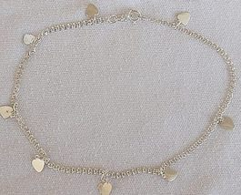 8 silver hearts anklet - $21.00