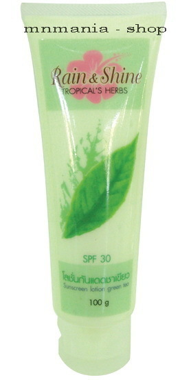 Thai Herbal At Home : TROPICANA Green Tea sunscreen lotion SPF30 size50g.