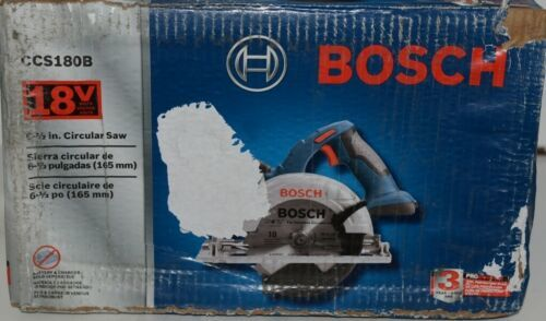 BOSCH CCS180B Circular Saw 18V with Thin Kerf Blade and Hex Wrench Pkg 1
