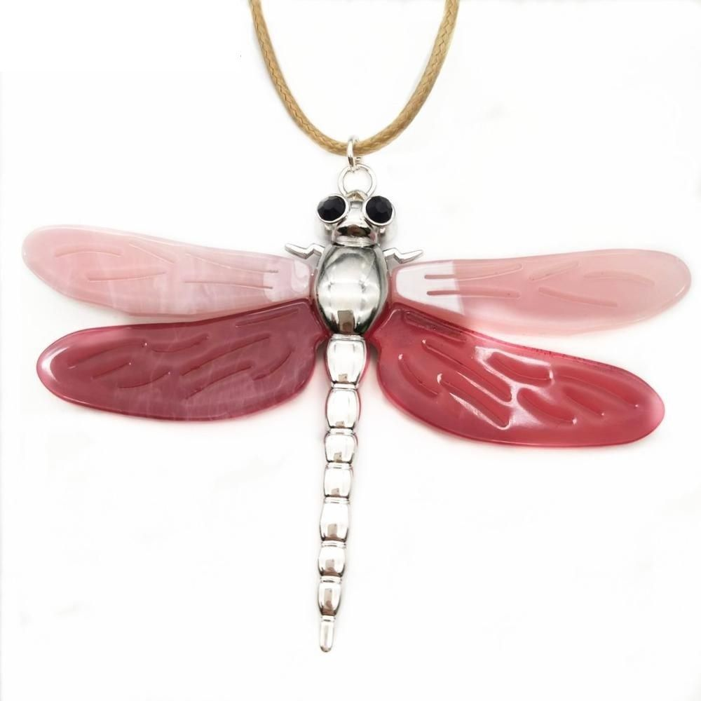 Women Dragonfly Necklace Pendant Zinc Alloy Statement Color Collar Accessories image 10