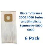 6 Riccar Type A HEPA Vacuum Bags (6pk) *Fits Riccar 2000 & 4000 Vibrance... - $10.29