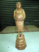 SO Big RARE!Ancient Standing Pra Sangkajai Powerful Statue Thai Buddha Amulets - $99.99