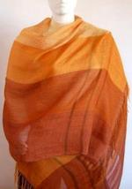 Weaved shawl,wrap mix of Babyalpaca wool and Silk - $89.00