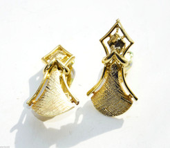 vintage High End luxury Coro Clip earrings gold Plated metal praying ang... - $4.94