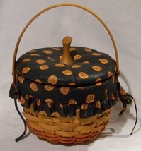 Longaberger 1996 Small Pumpkin Basket Combination - $39.15